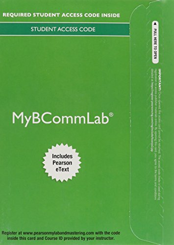 9780133784381: 2014 MyBCommLab with Pearson eText -- Access Card -- for Business Communication Essentials