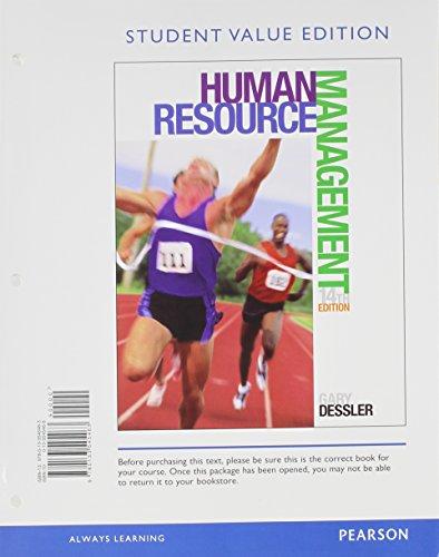 Human Resource Management, Student Value Edition Plus: Dessler, Gary
