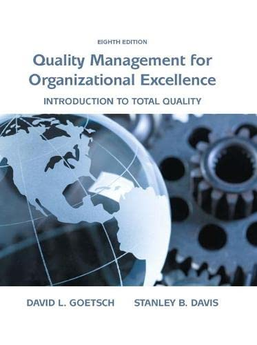 9780133791853: Quality Management for Organizational Excellence: Introduction to Total Quality (8th Edition)