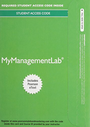 9780133792140: 2014 MyManagementLab with Pearson eText -- Access Card -- for Understanding and Managing Organizational Behavior