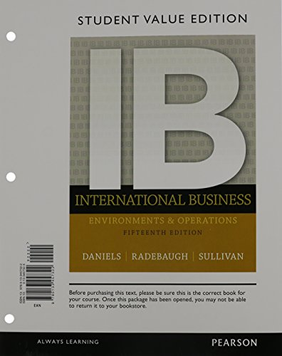 9780133792362: International Business, Student Value Edition Plus 2014 MyManagementLab with Pearson eText -- Access Card Package (15th Edition)