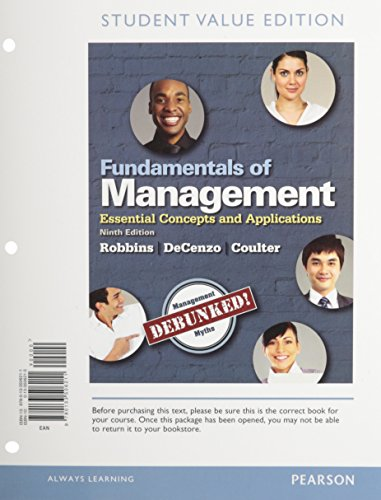 9780133792393 Fundamentals Of Management Essential Concepts And
