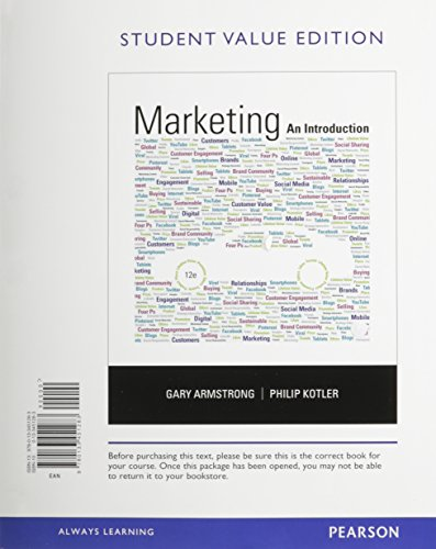 9780133792591: Marketing: An Introduction, Student Value Edition Plus 2014 MyMarketLab with Pearson eText -- Access Card Package (12th Edition)