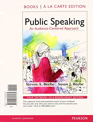 9780133792775: Public Speaking: An Audience-Centered Approach, Books a la Carte Edition Plus NEW MyLab Communication with Pearson eText -- Access Card Package (9th Edition)
