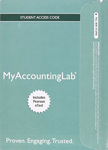 9780133792973: MyLab Accounting with Pearson eText -- Access Card -- for College Accounting: A Practical Approach