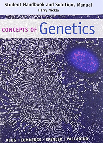 9780133796803: Student Handbook and Solutions Manual: Concepts of Genetics