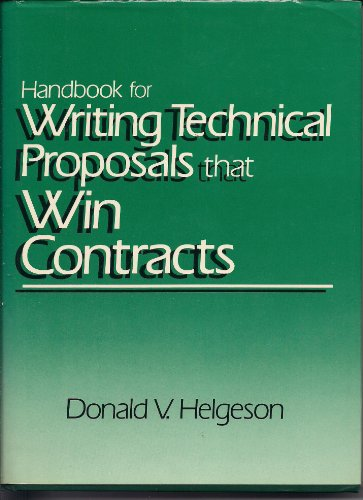 9780133796865: Handbook for Writing Technical Proposals That Win Contracts