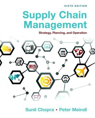 9780133800203: Supply Chain Management: Strategy, Planning, and Operation