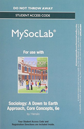 9780133801811: NEW MySocLab without Pearson eText -- Standalone Access -- for Sociology: Core Concepts (6th Edition)