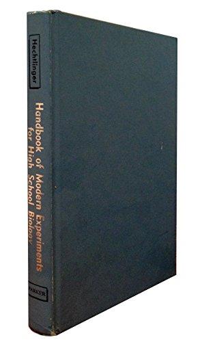 9780133804515: Handbook of modern experiments for high school biology