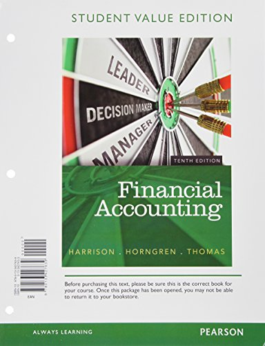 9780133805451: Financial Accounting, Student Value Edition Plus New Myaccountinglab with Pearson Etext -- Access Card Package