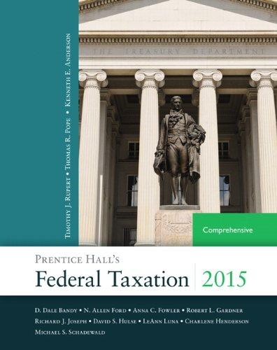Prentice Hall's Federal Taxation 2015 Comprehensive (28th: Anderson, Kenneth E.,