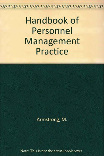 9780133807820: Title: Handbook of Personnel Management Practice
