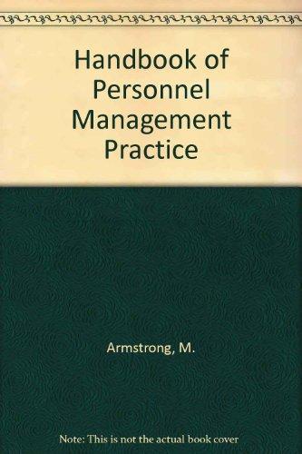 9780133807820: Handbook of Personnel Management Practice