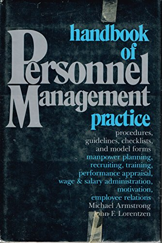 9780133807905: Title: A handbook of personnel management practice