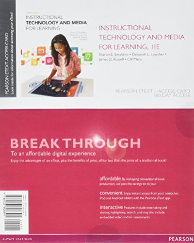 Instructional Technology and Media for Learning Access: Smaldino, Sharon E.;