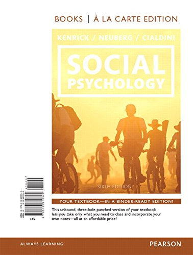 9780133810349: Social Psychology: Goals in Interaction, Books a la Carte Edition (6th Edition)