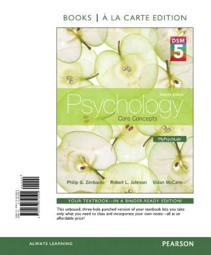 9780133810592: Psychology: Core Concepts with DSM5 Updates, Books a la Carte edition (7th Edition)