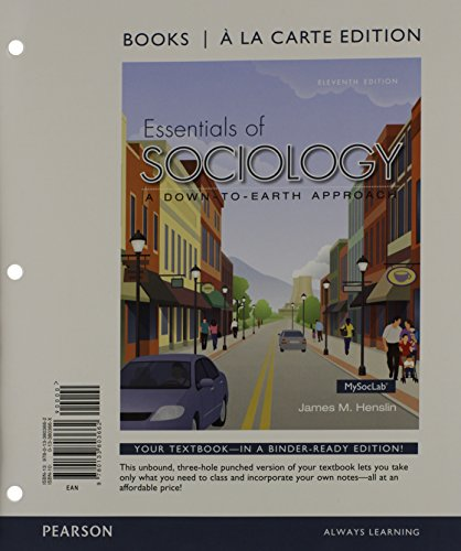 9780133810615: Essentials of Sociology, Books a la Carte Plus NEW MySocLab with Pearson eText -- Access Card Package (11th Edition)
