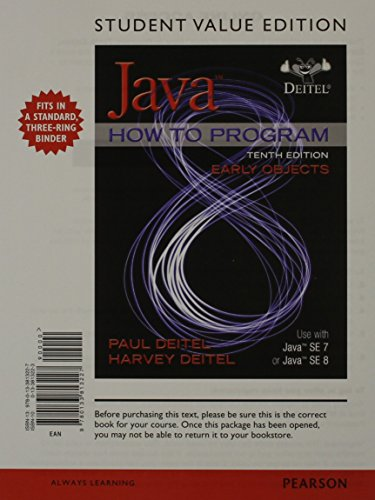 9780133813227: Java How to Program, Early Objects, Student Value Edition (10th Edition)