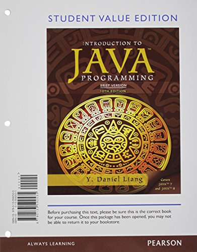 9780133813470: Student Value Edition for Introduction to Java Programming, Brief Version plus MyLab Programming with Pearson eText -- Access Card Package (10th Edition)