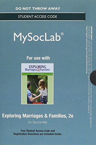 9780133814286: NEW MySocLab without Pearson eText --Standalone Access Card - for Exploring Marriages and Families (2nd Edition)