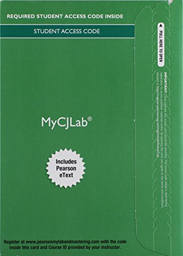 9780133814361: MyLab Criminal Justice with Pearson eText -- Access Card -- for Criminal Justice: A Brief Introduction (New My Cj Lab)