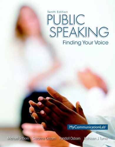 9780133814934: Public Speaking: Finding Your Voice Plus NEW MyCommunicationLab with Pearson eText -- Access Card Package (10th Edition)