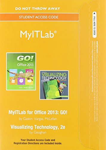9780133815566: MyITLab without Pearson eText -- Access Card -- for GO! with Visualizing Technology (Replacement Card)