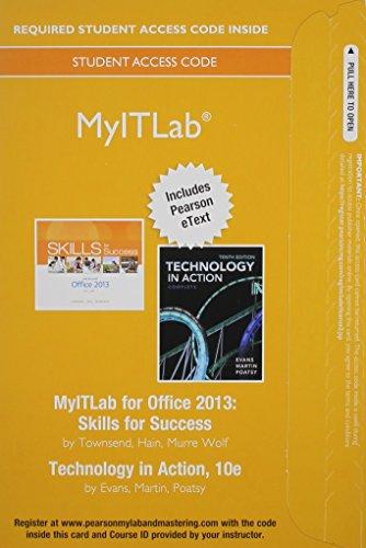 9780133815641: MyITLab with Pearson eText -- Access Card -- for Skills with Technology In Action, Complete