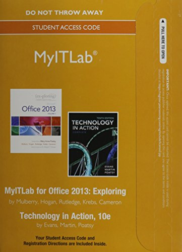 MyITLab without Pearson eText -- Access Card -- for Exploring with Technology In Action (...