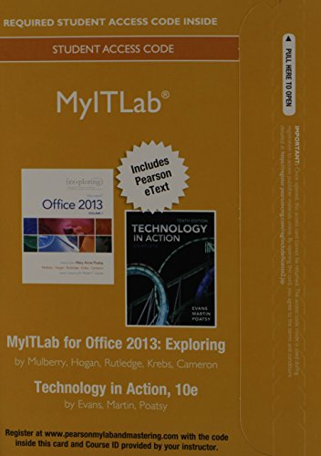 9780133815689: MyITLab with Pearson eText -- Access Card -- for Exploring with Technology In Action