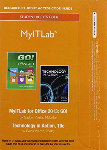 go with microsoft office 2016 volume 1 with myitlab access code