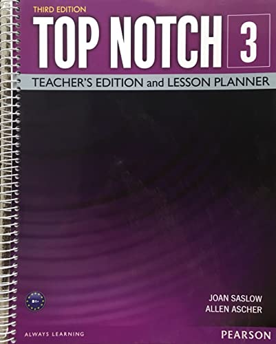 9780133819182: Top Notch 3 Teacher's Edition and Lesson Planner