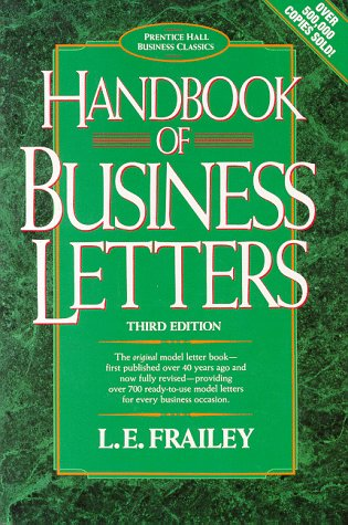 9780133820034: Handbook of Business Letters (Prentice Hall Business Classics)