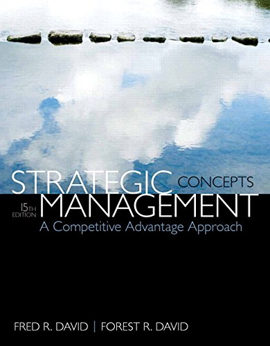 9780133823899: Strategic Management: A Competitive Advantage Approach, Concepts Plus NEW MyManagementLab with Pearson eText -- Access Card Package (15th Edition)
