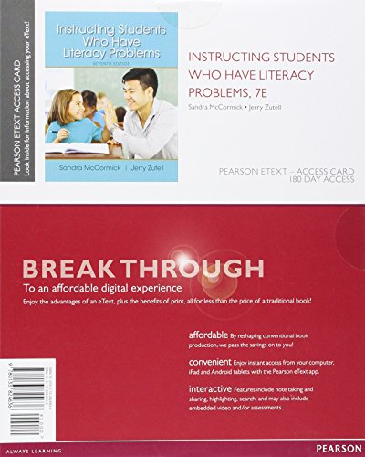 9780133824636: Instructing Students Who Have Literacy Problems, Enhanced Pearson eText - Access Card (7th Edition)