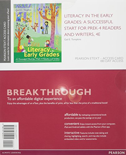 Literacy in the Early Grades Format: PrintedAccessCode: Tompkins, Gail E.