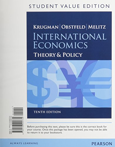 9780133827255: International Economics: Theory and Policy, Student Value Edition Plus NEW MyLab Economics with Pearson eText (2-semester access) -- Access Card ... Edition) (The Pearson Series in Economics)