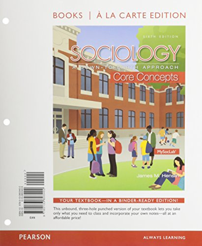 9780133828009: Sociology: Core Concepts Books a la Carte Plus NEW MySocLab -- Access Card Package (6th Edition)