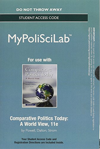 9780133828153: NEW My PoliSciLab without Pearson eText -- Standalone Access Card -- for Comparative Politics Today: A World View (11th Edition)