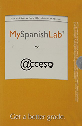9780133828726: MyLab Spanish without Pearson eText -- Access Card -- for Acceso (One-Semester)