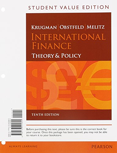 9780133830231: International Finance: Theory and Policy, Student Value Edition Plus NEW MyLab Economics with Pearson eText (1-semester access) -- Access Card Package (10th Edition) (Pearson Series in Economics)
