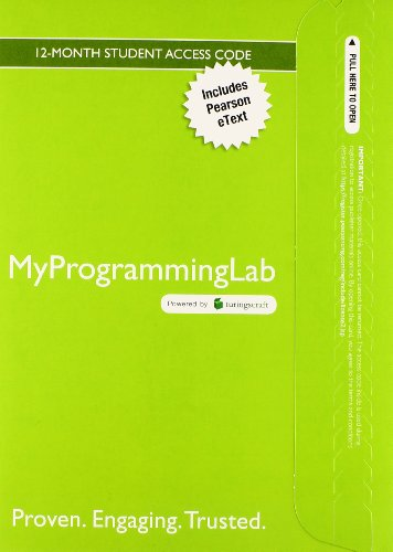 9780133831771: MyLab Programming with Pearson eText -- Access Card -- Starting Out with Java: Early Objects