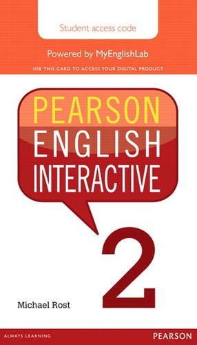 9780133833003: Pearson English Interactive 2 (Access Code Card)