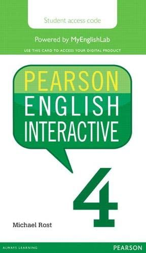 9780133833027: Pearson English Interactive 4, Online Version, American English (Access Card)