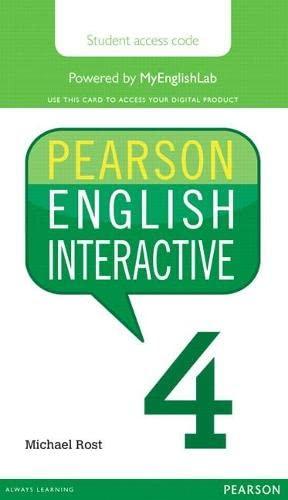 9780133833027: Pearson English Interactive 4 (Access Code Card)