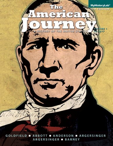 The America Journey: A History of the United States, Volume 1, Black & White Plus New ...