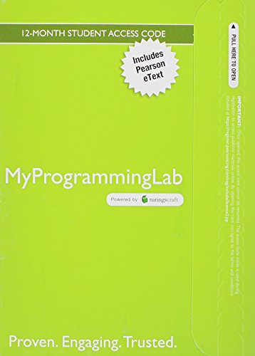 9780133834413: MyLab Programming with Pearson eText -- Access Card -- for Problem Solving with C++