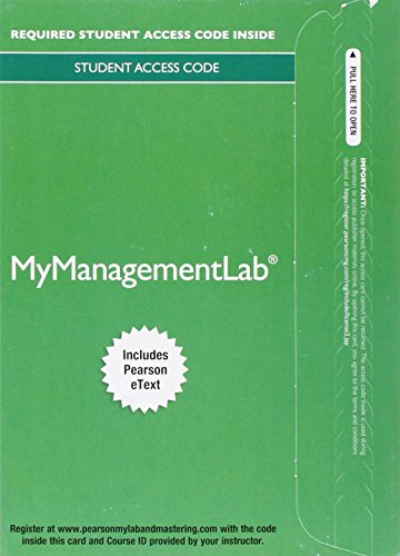 9780133838626: 2014 MyLab Management with Pearson eText -- Access Card -- for Management: A Focus on Leaders
